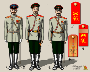 46th Infantry Division (Russian Empire) - Uniform of the 46th Artillery Brigade