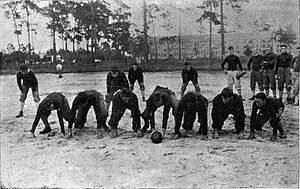1912 Florida Gators football team - The 1912 Gators practicing on the UF campus