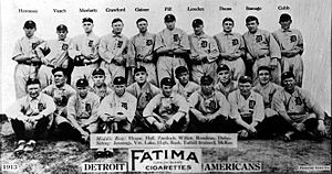 1913 Detroit Tigers, baseball card portrait