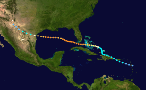 1919 Florida Keys hurricane - Image: 1919 Florida Keys hurricane track
