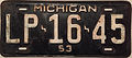1953 Michigan License Plate.JPG