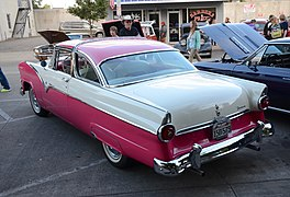 rear view, 1955 ford fairlane crown victoria