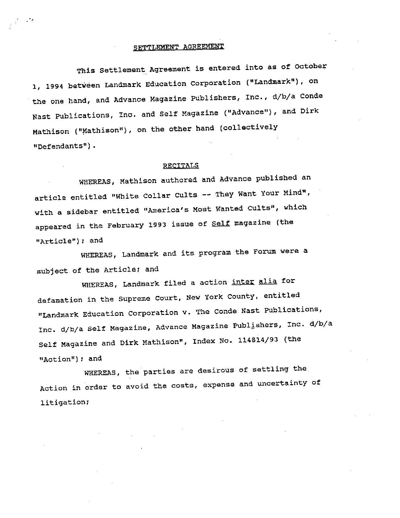 File:1993 Landmark V Conde Nast Settlement Agreement.pdf