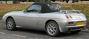 Fiat Barchetta - Fiat Barchetta rear view (without third Brake-Light on boot-lid)