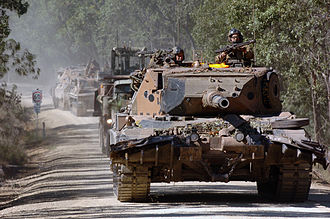 1st Armoured Regiment (Australia) - A Leopard AS1 MBT of the 1st Armoured Regiment during an exercise in Queensland in 2005.