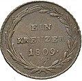 1 Kreuzer 1808, Tirol, Rückseite.jpg
