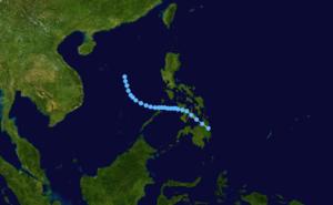 1975 Pacific typhoon season - Image: 2 W 1975 track