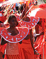2005-08-28 - London - Notting Hill Carnival - Girls in Costume - Red (4887679099).jpg