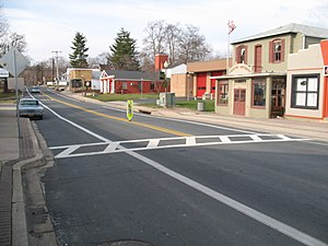 Bowie, Maryland - Old Town Bowie, as seen from the intersection of Maryland Route 564 and Chapel Avenue in January 2008