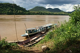 River pirate - A Mekong River sampan boat, typically used by modern-day Asian river pirates
