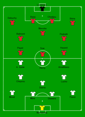 2011 French Supercup - Olympique de Marseille vs Lille OSC Line-up.png