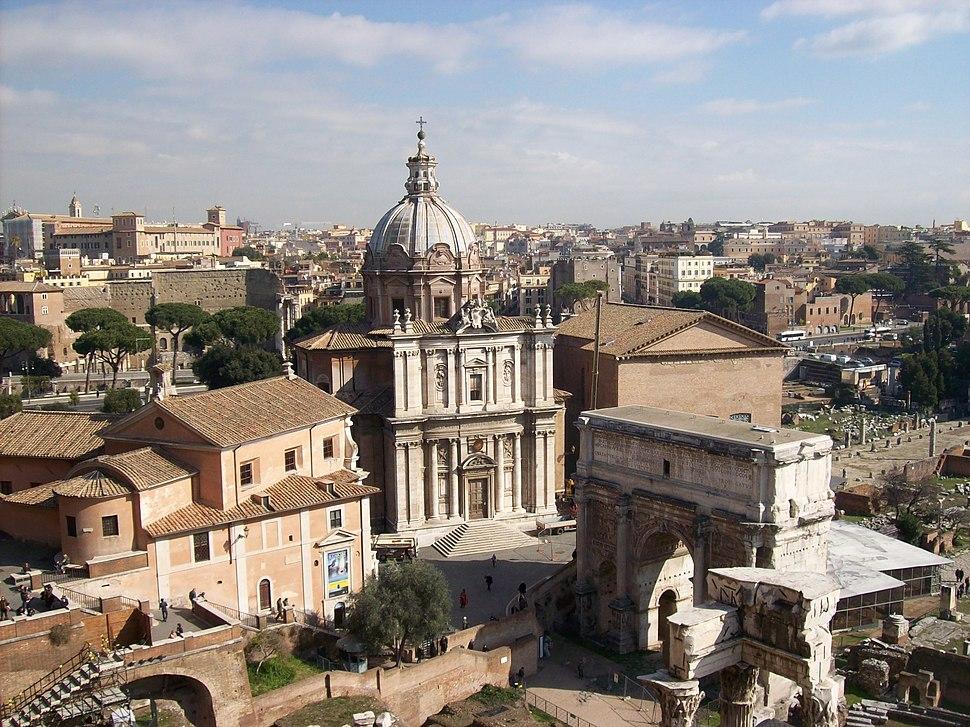 2012-02-17 Foro Romano da Palazzo Senatorio 3