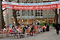 2014-03-11 Great Britain & Northern Ireland CeBIT Partner 2014 City Gemeinschaft Hannover begrüßt die Gäste Welcome 10 14 March 2014 Platz der Weltausstellung.jpg