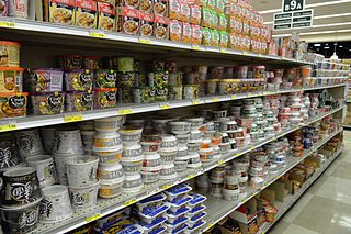Asian supermarket grocery store in Western countries that stocks items imported from Asia