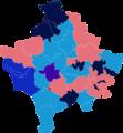 2014 Kosovan parliamentary election Map.png