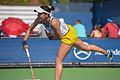 2015 US Open Tennis - Qualies - Misa Eguchi (JPN) def. Julie Coin (FRA) (20752390518).jpg