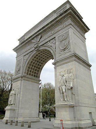 Piccirilli Brothers - Image: 2015 Washington Square Arch from northwest
