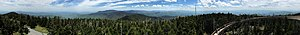 Clingmans Dome - Image: 2017 05 17 13 30 12 Full 360 degree panorama from the observation tower on Clingmans Dome in Great Smoky Mountains National Park, on the border of Sevier County, Tennessee and Swain County, North Carolina