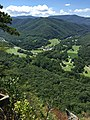 2017-08-09 14 16 09 View west from the viewing platform near the top of Seneca Rocks in Seneca Rocks, Pendleton County, West Virginia.jpg