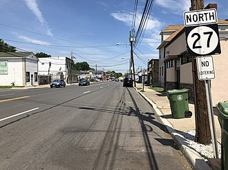 Roselle, New Jersey - Route 27 northbound on the southeast edge of Roselle