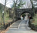 2018 Fort Tryon Park archway under Linden Terrace and path.jpg