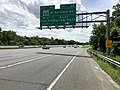 2019-05-27 13 53 22 View south along the inner loop of the Capital Beltway (Interstate 95 and Interstate 495) at Exit 4B (Maryland State Route 414 East-St. Barnabas Road, Marlow Heights) along the edge of Temple Hills and Marlow Heights in Maryland.jpg