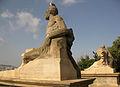 230 Escultures dalt el mirador del Palau Nacional.jpg
