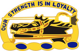 26th Cavalry Regiment - Image: 26th Cavalry Distinctive Unit Insignia Left