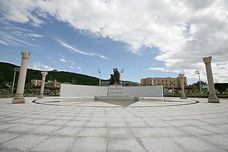 Dankook University - Jukjeon Campus has a bronze bear statue, Yongin