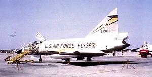 326th Fighter-Interceptor Squadron - Convair F-102A Delta Dagger 56-1383 at Richards-Gebaur AFB in May 1964