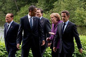 English: Silvio Berlusconi, Prime Minister, Ba...