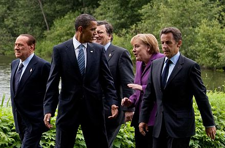 Berlusconi with other G8 leaders in 2010, Canada 36th G8 summit member cropped 36th G8 summit member 20100625 cropped.jpg