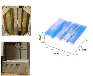 Microwave imaging - 3D image of rebars with corrosion produced using microwave imaging, http://hdl.handle.net/10355/41515