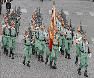 "3rd Legion Tercio ""Don Juan de Austria"" - The 3rd Legion at the Bastille Day Military Parade."