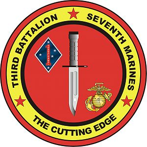 3rd Battalion, 7th Marines - 3/7 insignia
