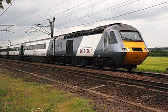 East Coast Main Line - A train operated by the former main provider of services on the line, East Coast.