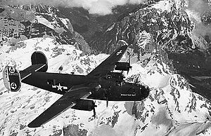 47th Air Division - 47th Bomb Wing B-24 over the Alps 1944