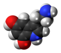 5,7-Dihydroxytryptamine molecule spacefill.png