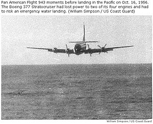Pan Am Flight 6 - Pan Am Flight 6 ditching in the Pacific Ocean, photographed from US Coast Guard Cutter ''Pontchartrain''