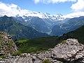 5856 - Schynige Platte - Jungfrau, Silberhorn, Ebnefluh, Mittaghorn, Grosshorn, Breithorn, and Lauterbrunnental viewed from Oberberghorn.JPG