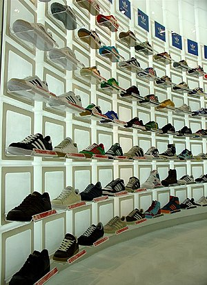 Adidas shop in Tokyo, Japan (description at fl...
