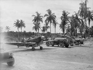 No. 79 Squadron RAAF - Image: 79 Sqn Spitfires Momote
