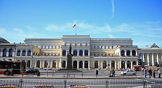 Bank Square, Warsaw - Bank Square today. The seat of the administration of Mazovia