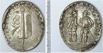 Geuzen medals - Silver medal commemorating the Capture of Brielle in 1572 by the Sea Beggars