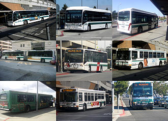 AC Transit - A collage of AC Transit's buses