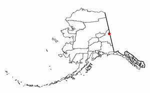Eagle, Alaska - Image: AK Map doton Eagle Village