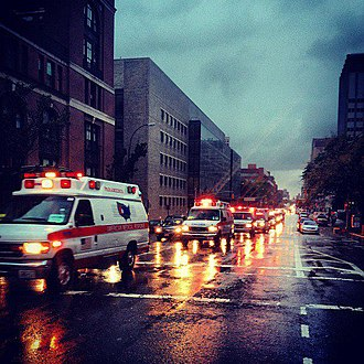 American Medical Response - Image: AMR Ambulances during Hurricane Sandy