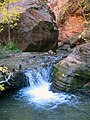 A Small Waterfall in Kanarra Canyon DyeClan.com - panoramio.jpg
