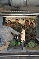 A U.S. Army Soldier provides an orientation on medical evacuation procedures and equipment to the India Army Aviation officers as part of the Subject Matter Expert Exchange.jpg