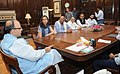 A delegation of Owners Publishers of Newspaper Houses, meeting the Union Minister for Finance and Corporate Affairs, Shri Arun Jaitley, to discuss the issues of GST, in New Delhi on September 26, 2016 (1).jpg